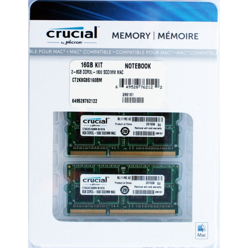 Crucial 4gb Ddr3 1067mhz Sodimm, So-dimm Memory For Mac